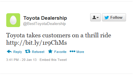 Toyota Tweet