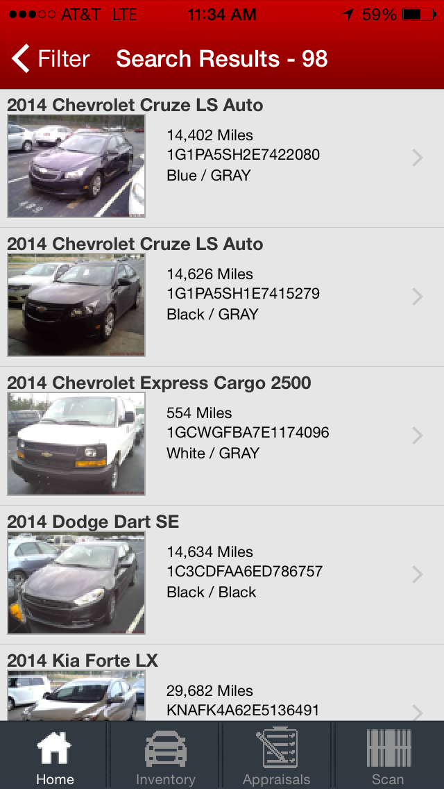 Auction Search Results
