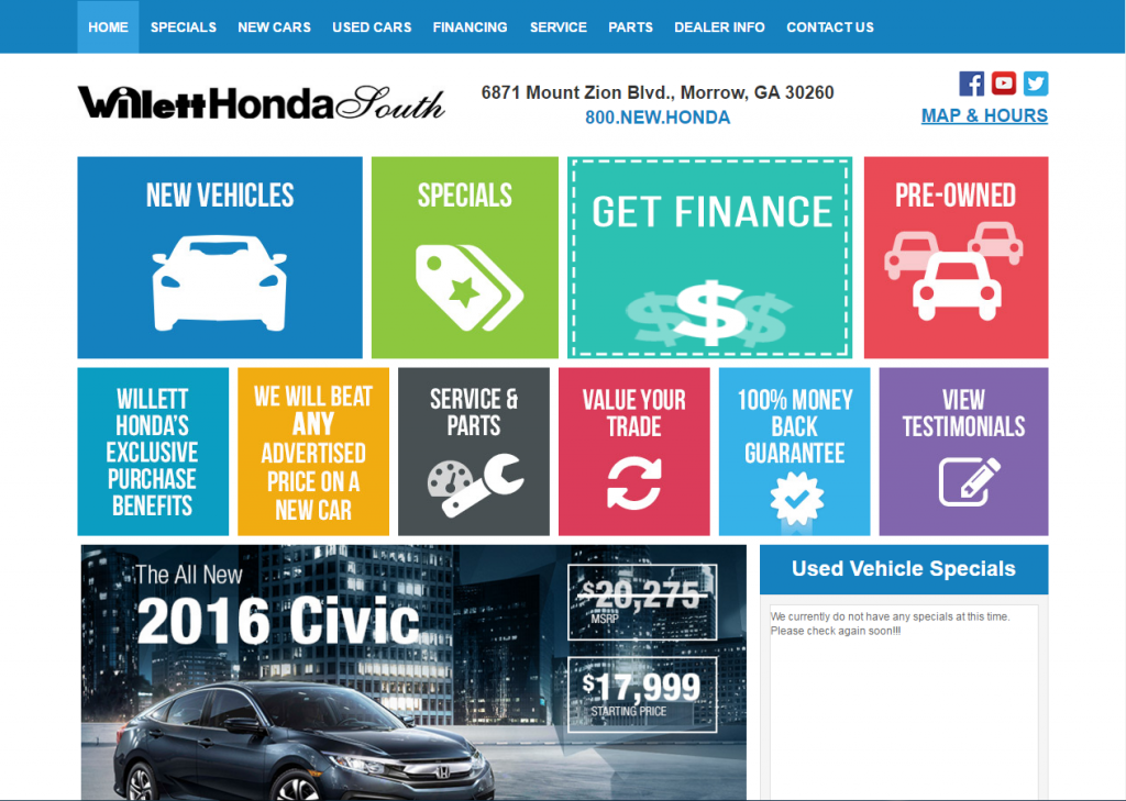 willet honda home page