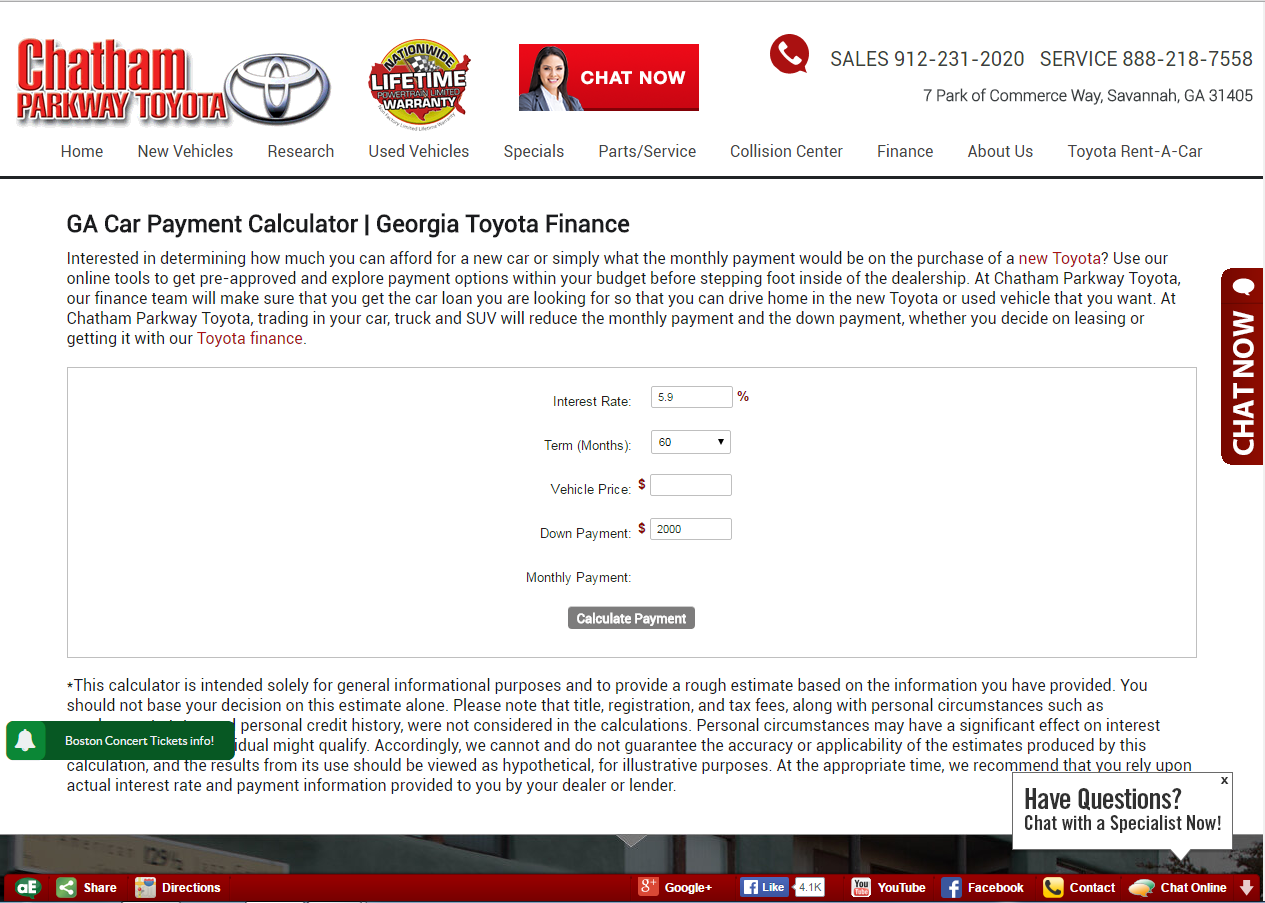 Chatham Parkway Toyota >> Chatham Parkway Toyota Research Page Dominion Dealer Solutions
