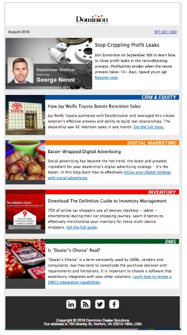 Newsletter Update Blog