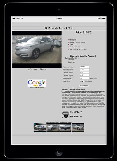 Web Control Vehicle Brochure