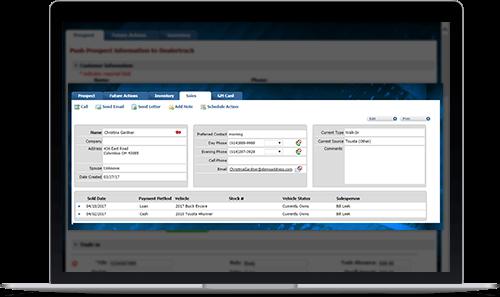 Web Control Sales Tab