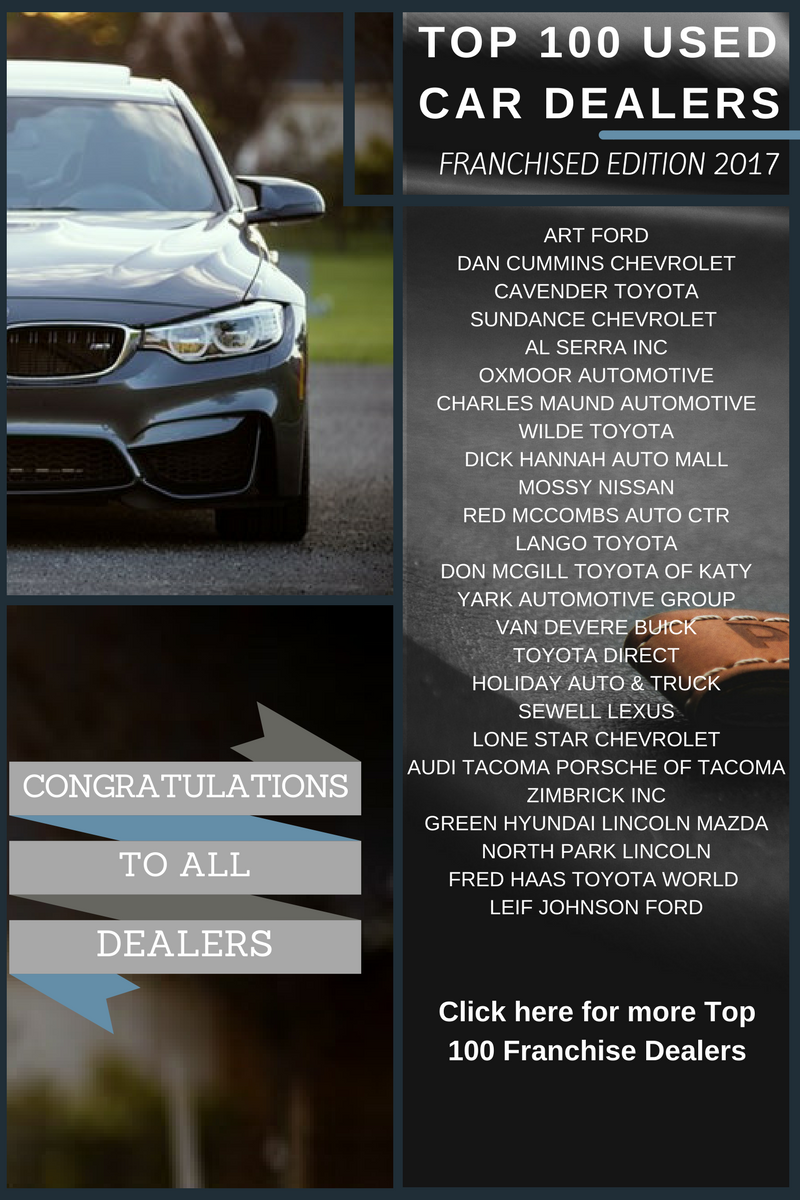 Top 100 Franchise Used Car Dealers