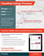 Classified Listings Premium info sheet