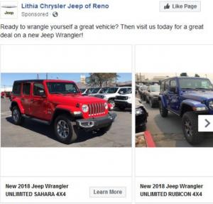 Lithia Jeep Reno >> Marketing Dealer Of The Month Lithia Chrysler Jeep Of Reno