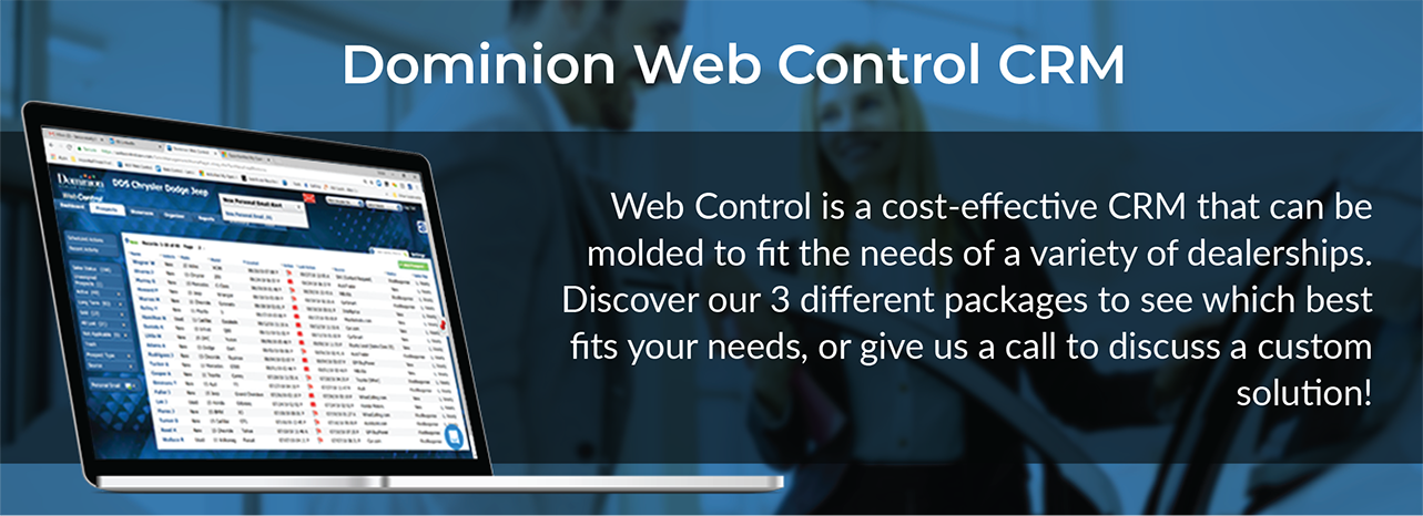Web Control | Pricing | Dominion Dealer Solutions